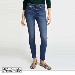 "Madewell 9"" High Riser Skinny Crop in Bayview Wash"